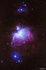 60 seconds in the Great Orion Nebula (M42) (Astro☆GuiGeek) Tags: m42 orion orionnebula greatorionnebula nébuleuseorion nebula nébuleuse astroguigeek astronomy astrophotography astronomie astrophotographie astro astro2016 franceastronomie sky skyatnight night nightphotography stars starrysky starrynight étoiles étoilé nuit runningmannebula ngc1973 gimp lightroom canoneos600d canonphotography eos600d t3i 600d rebelt3i lxd75