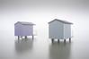 Stilts 2 (Simon Boxall) Tags: fuji fujifilm x100 essex heybridge maldon beachhut mist fog longexposure minimal reflection