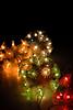 Christmas lights (dragonllabroe) Tags: christmas light lights ball balls color colorful close dark soft bokeh closeup wires shine shiny home lamp lamps surreal