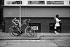 © Inge Hoogendoorn (ingehoogendoorn) Tags: streetphotography straatfotografie burgemeesterreigerstraat utrecht streetscene hoi hallo sayhi hi letters message boodschap bikes dutchbikes straightlines