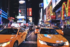 Times Square, New York City (- Anita Ao) Tags: newyork newyorkcity nyc manhatta usa america timessqaure broadway seventhavenue 7thave 7thavenue taxi yellowtaxi winter christmas night nightphotography canon