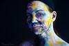 naomi170108-195-Edit (Naomi Creek) Tags: portrait selfportrait selfdiscovery paint face artistic artist painted painting texture female colour light dramatic color girl art canvas