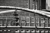 bridge (petdek) Tags: blackandwhite street people monochrome bridge bike geometry