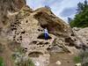 Scale ((Jessica)) Tags: malibu california malibucreekstatepark rockformation rock rocky overcast hiking hike rokinon rokinon12mm sony sonyalpha sonya6000 geology