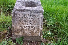 Ramsay, Seghill, Holy Trinity, Northumberland, UK, 4/2005 In memory of my dear husband Alex Ramsay died May 17th 1954 (SteveT0191) Tags: ramsay monumentalinscription headstone cemetery churchyard graveyard grave tombstone seghillholytrinity seghill holytrinity pre1975 flickr