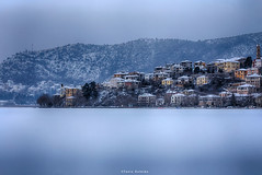 Kastoria ith Snow... (ktania) Tags: kastoria kastorialake lake ice icelake colors color colorful colorsky cold winter wildlife dark night nightime nightphotography photography photo photographyart art artphotography canon canoneos6d canonef100mmf28macro nature naturesfinest national nationalgeographic natgeo instagram inspired sell buy