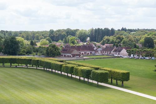 Vue sur le domaine de Chambord depuis le Château