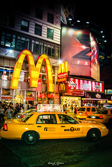 in the city  - #Manhattan (graser.robert) Tags: city manhattan newyork new york pfoto street streets m mcdonalds taxi nyc robertgraser artist germany usa timesquare nightshot nights light lights town downtown