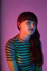 (juliafletcher) Tags: portrait color gels studio pink purple green yellow red blue