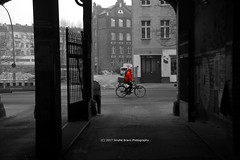 23/365 - Here we go... (Sinuhé Bravo Photography) Tags: canon eos7d bw selectivecolor bike orange outdoor berlin