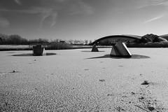 Frozen Over (John fae Fife) Tags: fujifilmx noiretblanc xe2 monochrome frozen ice water kirchberg blackandwhite luxembourg nb bw coque