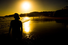 Walk on the beach, sunset (_Geoff R Baker) Tags: portugal sunset beach nex7 sel1855 sony albufeira atlantic silhouette