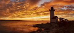 Annisquam Sunset (NYRBlue94) Tags: glow lighthouse evening ocean atlantic harbor landscape annisquam pano
