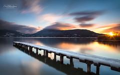 16h57mn22s (cedric.chiodini) Tags: sunsetcouchédesoleil landscape paysage eau water lac lake annecy le longexposure poselongue canon