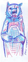 oso a lapicero (ivanutrera) Tags: oso draw drawing dibujo dibujoalapicero boligrafo animal bear wild wildlife sketch sketching lapicero dibujoaboligrafo