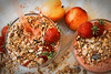 Granola with yogurt and strawberries (lenavolkova86) Tags: healthy natural dairy background fresh greek glass delicious milk dried gourmet dessert yogurt closeup fruit breakfast diet berry homemade vegetarian organic bowl mint oat food granola spoon sweet cereal snack protein cream muesli focus white yoghurt nutrition strawberry