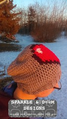 8bit Heart Toque01a (zreekee) Tags: sparkledoomdesigns whistleivy 8bithearttoque crochet toque heart videogame minecraft
