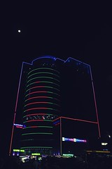The Digital Flag Tower (ainulislam) Tags: flag bangladesh bangla urban urbanart urbanscape urbanlife curious dhaka dhakagram dhakagraam moon night lights light line lines citylife city cityart bangladeshi moonlight street streetart