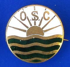OSC - unidentified swimming club badge (1910's - 1930's) (RETRO STU) Tags: osc swimmingclubbadges ogdencigarettecards unidentified enamelbadge awgamageltdoflondon arthurwaltergamage gamages