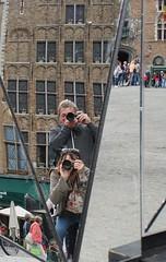Self portrait (suepage_mx) Tags: selfportrait mirror belgium image sony brugge angles