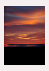 Surreal Sunset (littlestschnauzer) Tags: above uk light sunset red summer sky sun sunlight color nature weather june evening intense nikon skies view vibrant patterns yorkshire deep surreal illuminated swirls unusual colourful slouds emley 2015 d5000