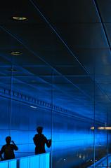 subway blues (Scilla sinensis) Tags: blue silhouette subway hamburg blues hafencity fotosondag fs150607