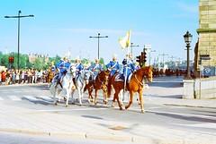 Horse Guards (Mister.Marken) Tags: horses military guards street intersection colorguard sweden stockholm nikon nikonnikkorserieselens nikonfg20 fg20 50mm kodaksupra supra100