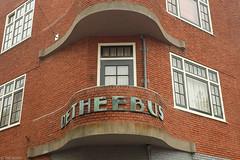De Theebus (Tim Boric) Tags: house haarlem corner letters lettering huis amsterdamseschool gedempteoudegracht hoekhuis kleinehoutstraat theebus