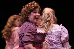 """Heather Jane Rolff as Ado Annie in the 2010 Music Circus production of """"Oklahoma!"""" at the Wells Fargo Pavilion July 27-August 1.  Photo by Charr Crail."""