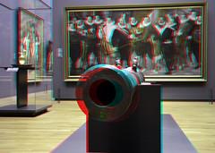 Cornelis Ketel Rijksmuseum Amsterdam 3D (wim hoppenbrouwers) Tags: amsterdam painting 3d gun anaglyph stereo cannon rijksmuseum rijksmuseumamsterdam redcyan oudemeester cornelisketel