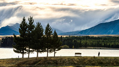 Nature side by side (KRW_GNS) Tags: new morning travel blue summer sky cloud mountain lake mountains alps green nature water ecology beautiful field grass clouds landscape scenery view outdoor hill scenic peak landmark lakeside ridge southern zealand destination environment serene mountainside grassland attraction tekapo foothill
