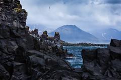 Rocks (fredvr (Fred van Rooijen)) Tags: mist mountain mountains water berg rock fog landscape iceland rocks arctic nordic bergen scandinavia basalt landschap rotsen rots snaefellsness ijsland scandinavie