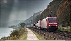 DBC 152 129-3 @ Koblenz-Stolzenfels (Wouter De Haeck) Tags: deutschland dbnetz kbs471 frankfurt koblenz rheinstrecken linkerheinstrecke rheinlandpfalz stolzenfels mittelrhein rhein dbag dbc dbcargo br152 siemens eurosprinter es64f cargo güterzug trailer