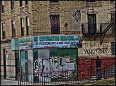 It's Different Where I'm From (raymondclarkeimages) Tags: 8one8studios usa raymondclarkeimages rci outdoor street streetphotography building newyork ny canon 6d 2470mm28 urban graffiti city citylife blackborder neighborhood business thehood flickr google yahoo