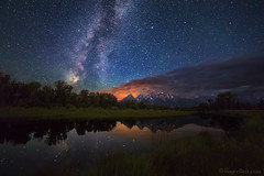 "Milky Way over Schwabauchers Landing (IronRodArt - Royce Bair (""Star Shooter"")) Tags: milkyway starrynight stars nightphotography nightsky nightscape reflection grandtetons tetons grandtetonnationalpark wyoming schwabaucherslanding"