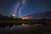 "Milky Way over Schwabauchers Landing (IronRodArt - Royce Bair (""Star Shooter"")) Tags: milkyway starrynight stars nightphotography nightsky nightscape reflection grandtetons tetons grandtetonnationalpark wyoming schwabaucherslanding"