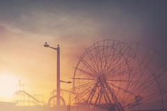 Winter fair... (CatMacBride) Tags: aberdeen scotland fair fairground sunset doubleexposure