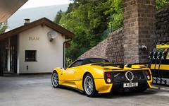 C12S. (Alex Penfold) Tags: pagani zonda s roadster c12 yellow supercars supercar super car cars autos alex penfold italy 2016 raduno
