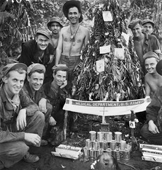 U.S. Army Medical Dept Christmas in Papau, New Guinea 1942 (Peer Into The Past) Tags: medicaldepartment medics supportourveterans peerintothepast military christmas newguinea papau vintage history ww2