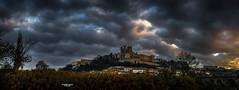 Reflets d'or (Fred&rique) Tags: lumixfz1000 photoshop hdr cameraraw hérault béziers cathédrale ciel nuages matin reflets dorés pont vieux histoire ha t