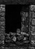 little owl in barn b&w (mido2k2) Tags: yorkshire uk derbyshire limestone drystone building derelict abandoned ruin free wild hidden hide 150500mm sigma weather winter snow d5300 nikon wildlife natural nature countryside rural villager watching ornithology avian bird prey raptor little district peak owl barn stonework architecture texture abstract photo border outdoor