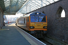 92032 Penrith Station (DieselDude321) Tags: 92032 class 92 gbrf 6s94 dollands moor irvine caledonian paper penrith station cumbria china clay