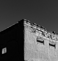 Taos Pueblo No. 4 (Mabry Campbell) Tags: 2016 december h5d50c hasselblad mabrycampbell newmexico santafe taos taospueblo usa unitedstatesofamerica adobe architecture blackandwhite building commercialphotography fineart fineartphotography historic image nativeamerican old photo photograph photographer photography pueblo squarecrop f80 december272016 20161227campbellb0001147 80mm ¹⁄₃₂₀sec 100 hc80