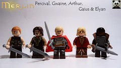Merlin - Percival, Gwaine, Arthur, Gaius & Elyan (Random_Panda) Tags: lego figs fig figures figure minifigs minifig minifigures minifigure purist purists character characters film films movie movies television tv merlin bbc show
