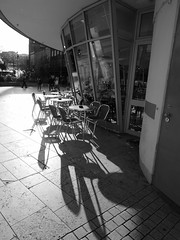 obscura shadows (dawn.v) Tags: blackandwhite monochrome bournemouth dorset uk england january winter 2017 arcticblast cold wintery shadows lumixlx100