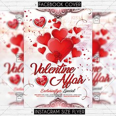 Valentine Affair - Premium Flyer Template (ExclusiveFlyer) Tags: exclusiveflyer psd freeflyer freepsd diadesanvalentin fiesta happyvalentinesday happyvalentines heart kiss love loveday lovers night noche party red romantic