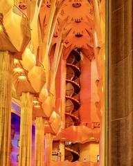 """Stain Glass Reflections"" (geofotousa) Tags: reflections church sagradafamília gaudí basilica barcelona viking"