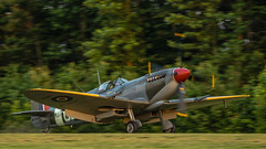 Supermarine Spitfire Just After Sunset Landing (4myrrh1) Tags: pungo grassstrip flyingprom flying flight ww2 wwii military british fighter aircraft airplane aviation airshow airplanes airport virginia va virginiabeach 2016 supermarinespitfire spitfire canon 7dii ef100400l