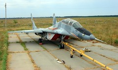 "MiG-29UB Fulcrum 3 • <a style=""font-size:0.8em;"" href=""http://www.flickr.com/photos/81723459@N04/32360082210/"" target=""_blank"">View on Flickr</a>"