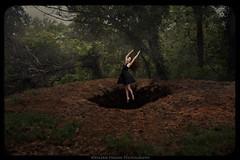 Descending (Valerie Fremin) Tags: forest composite girl black dress levitation mystery fantasy valerie fremin photography fine art beauty solitude blackdress valeriefremin valeriefreminphotography nicholewagner fineartphotography blackhole